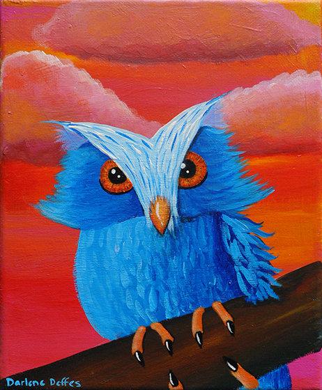 Edward Owl Painting