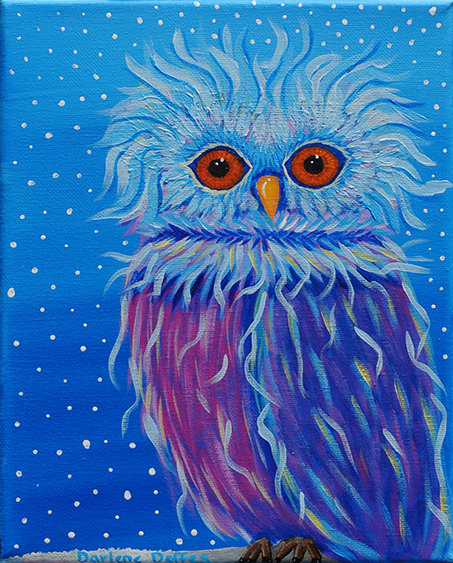 Andrew Owl Painting