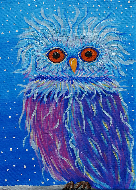 5x7 Andrew Owl Greeting Card with Envelope
