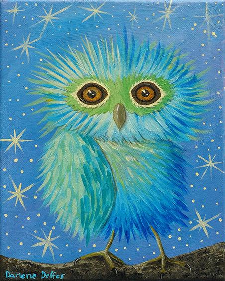 Galileo Owl Painting