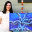 Thumbnail: Shimmery Rain Drips Tree Painting