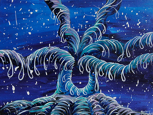 """Rooted 18""""x24"""" Painting"""