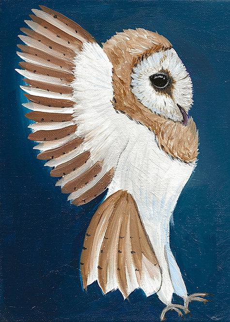 Gavin Owl Painting