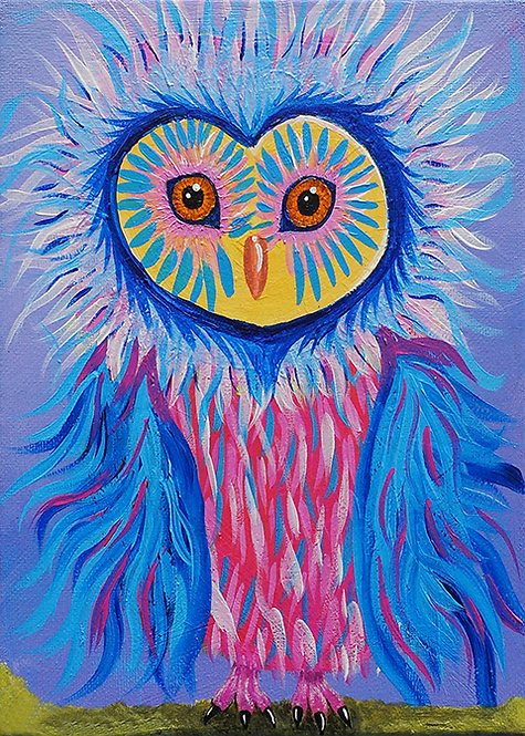 5x7 Liz Owl Greeting Card with Envelope