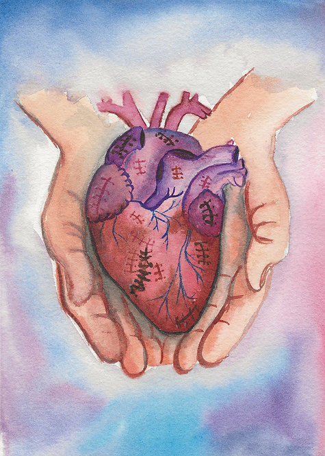 10-Pack Greeting Cards - Blank Inside - Healing In His Hands
