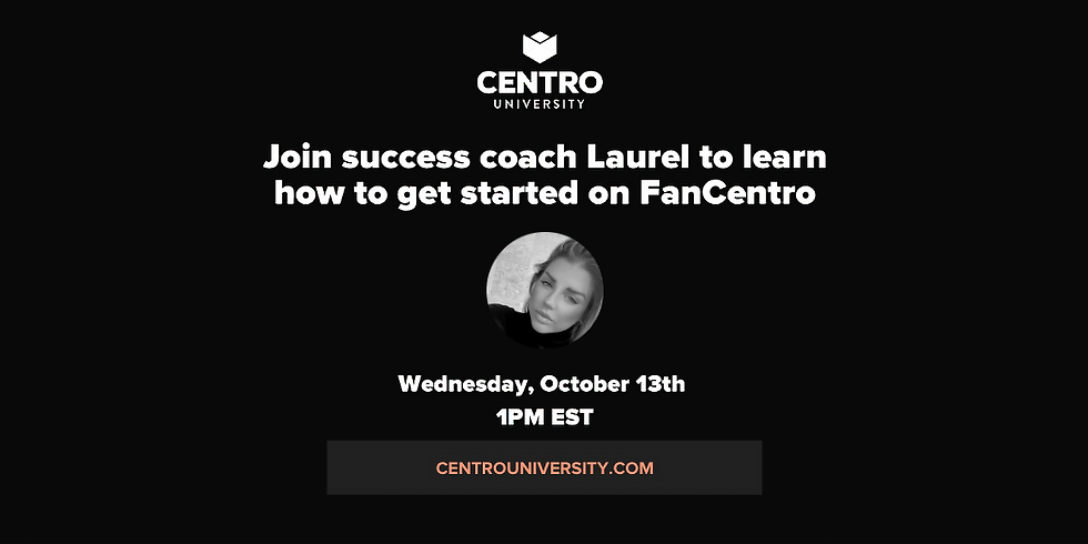 WELCOME TO FANCENTRO Oct 13th