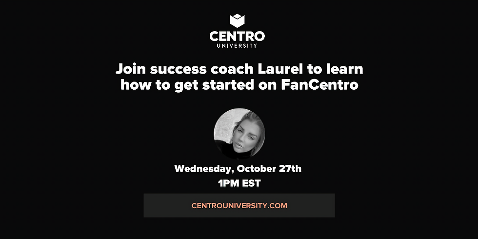 WELCOME TO FANCENTRO Oct 27th