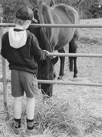 Boy and horse bw.jpg
