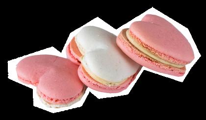 """4 Herz-Macarons """"Mamma"""""""