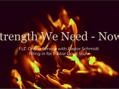 Strength We Need - Now!