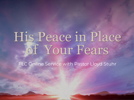 His Peace in Place of Your Fears