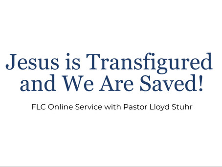 Jesus is Transfigured and We Are Saved!