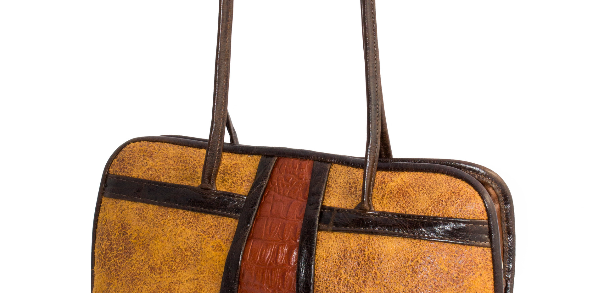 Tan Cork Horizontal Tote