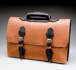 Two Toned Double Buckle Breifcase