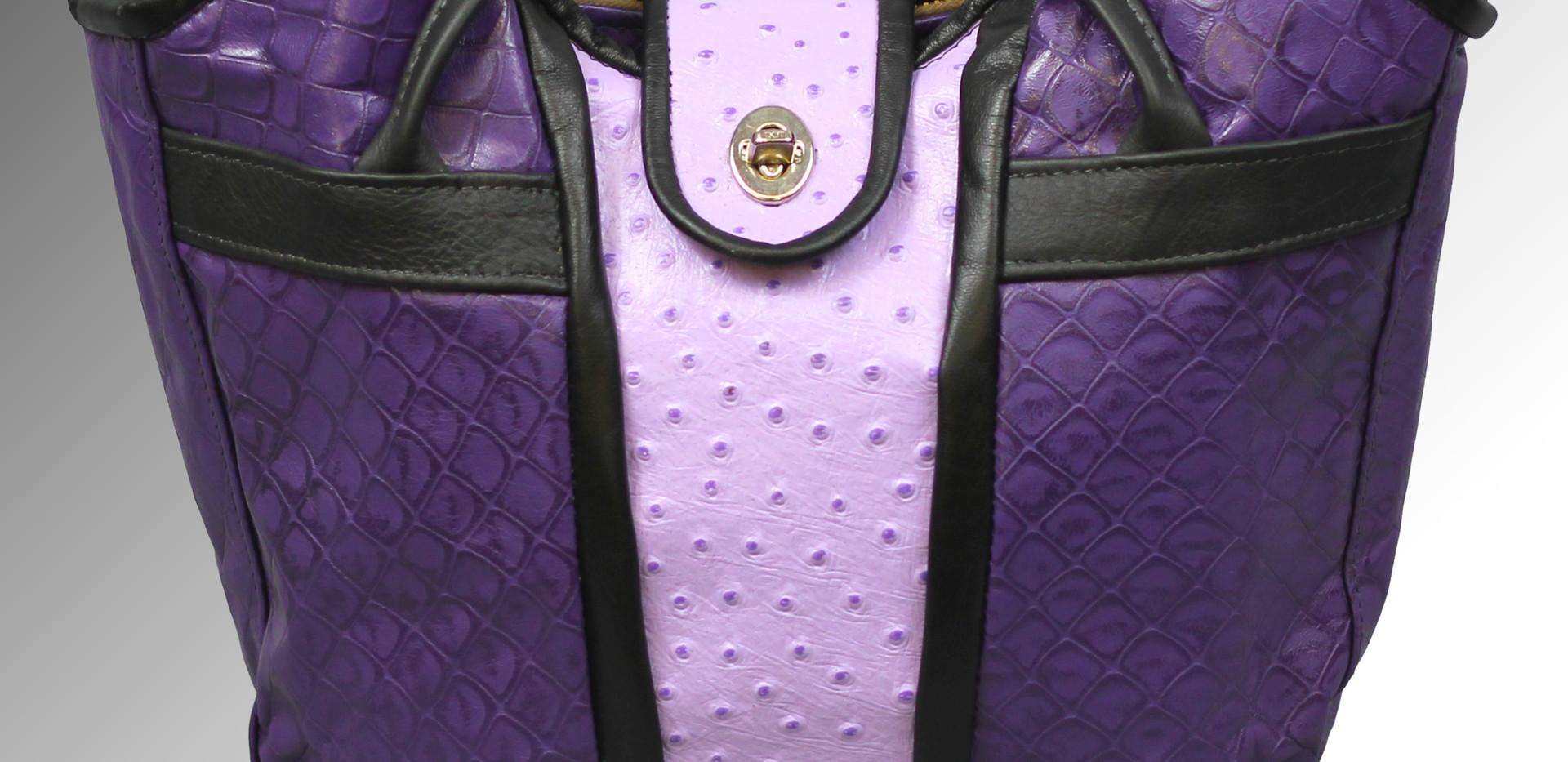 Purple Textured Bustier