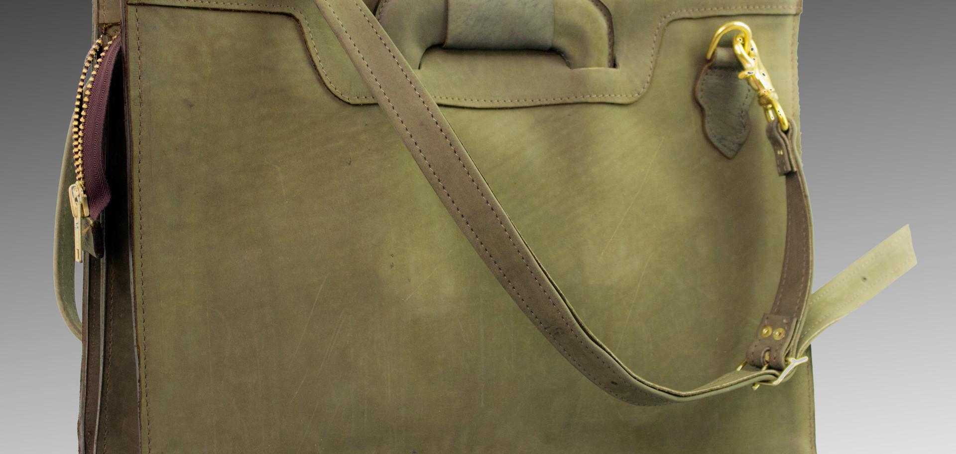 Green Buffed Briefcase