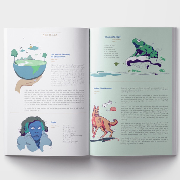 Illustrating stories by young minds