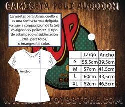 Tallaje camiseta polialgodon mujer