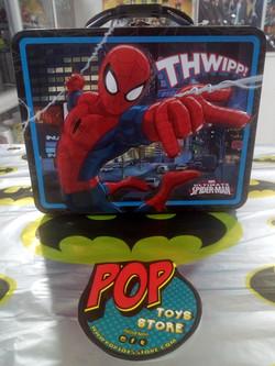 lonchera metálica  spiderman