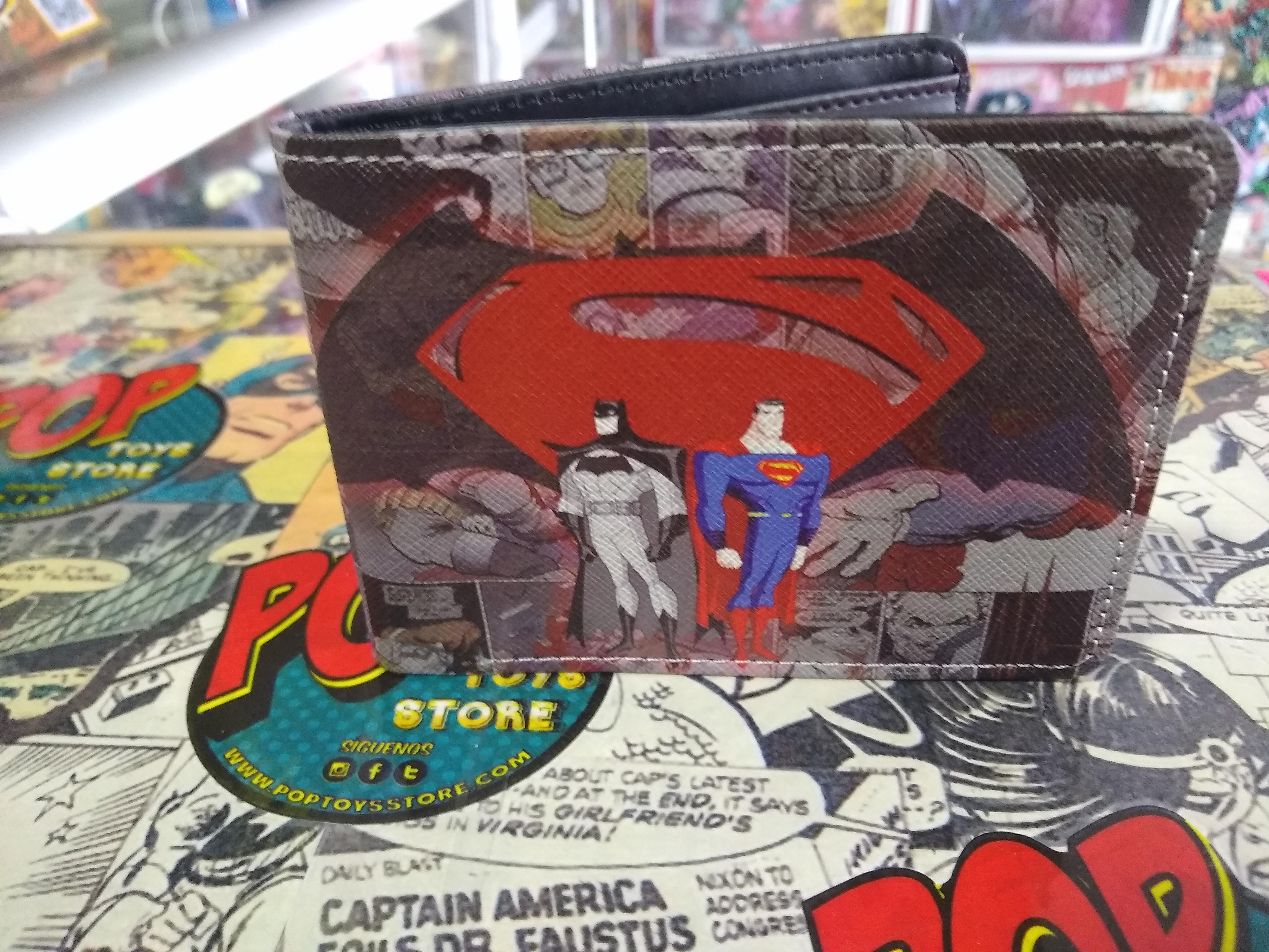 Billetera batman superman serie