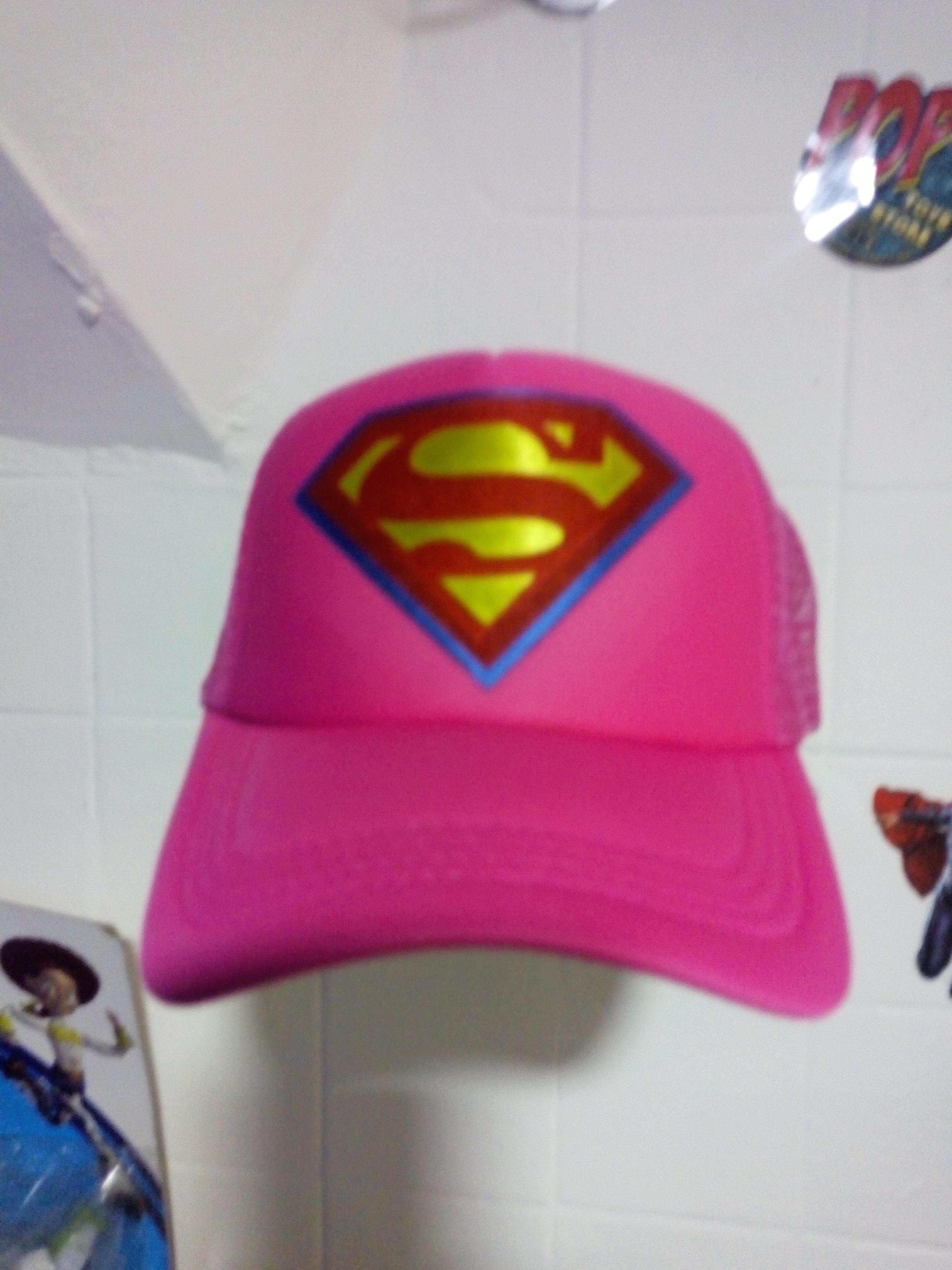 Gorra superman  rosa
