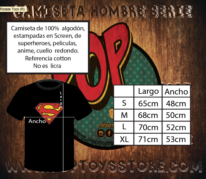 Tallaje Camisetas Screen hombre cotton black