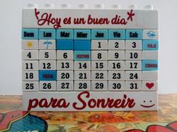 Calendario tipo lego