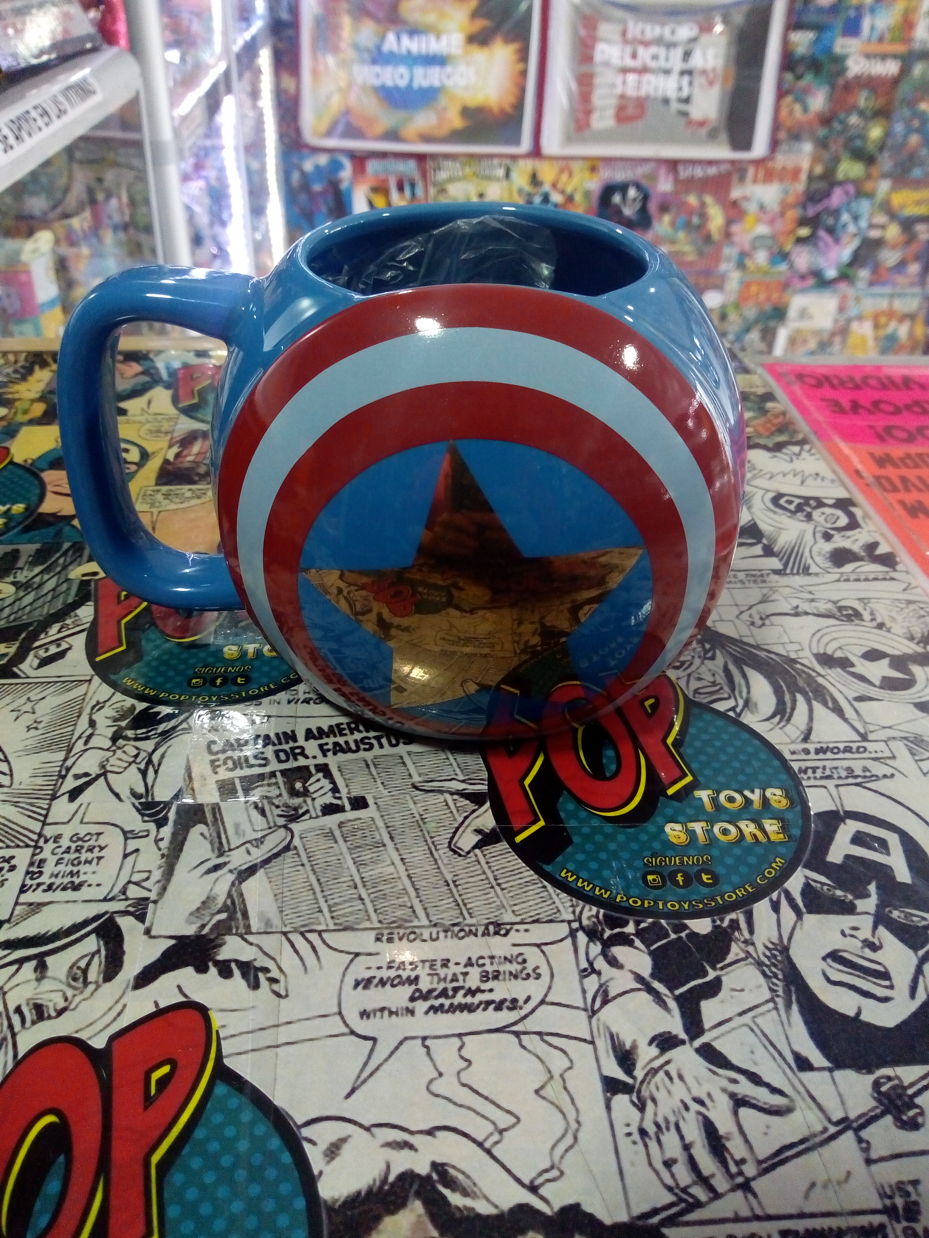 mug cerámica capitán América
