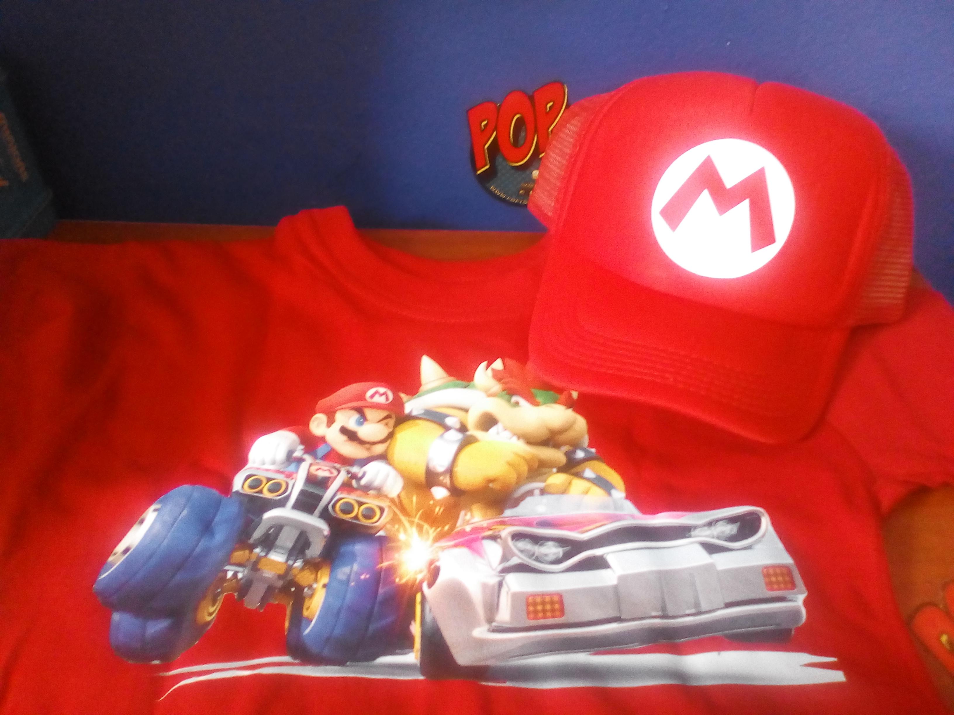 camiseta y gorra Cumpleaños Mario
