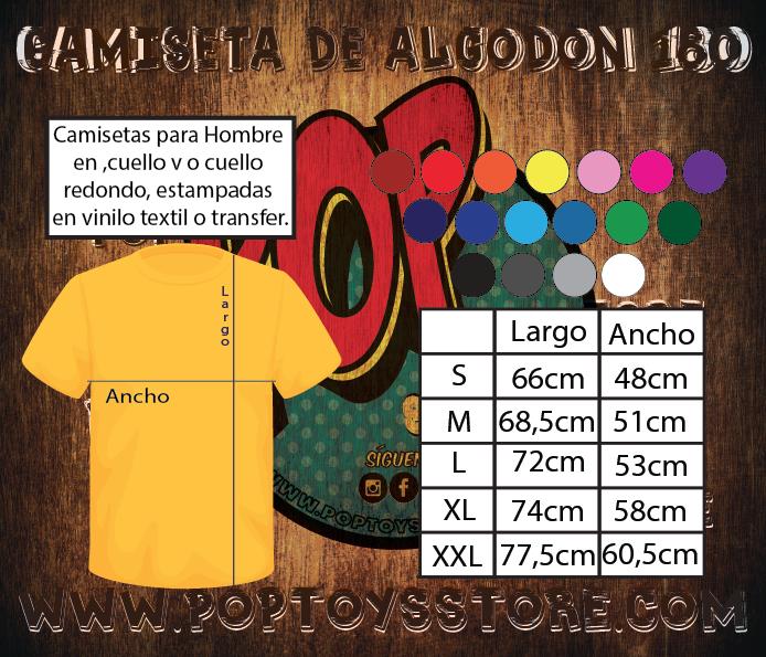 Tallaje Camiseta Adulto algodon