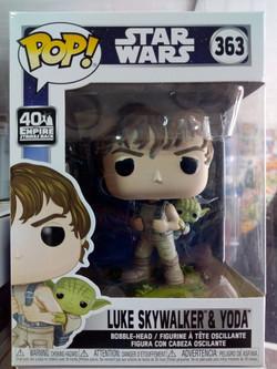 funko pop Luke skywalker & yoda