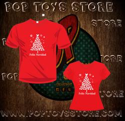 camisetas rojas navidad