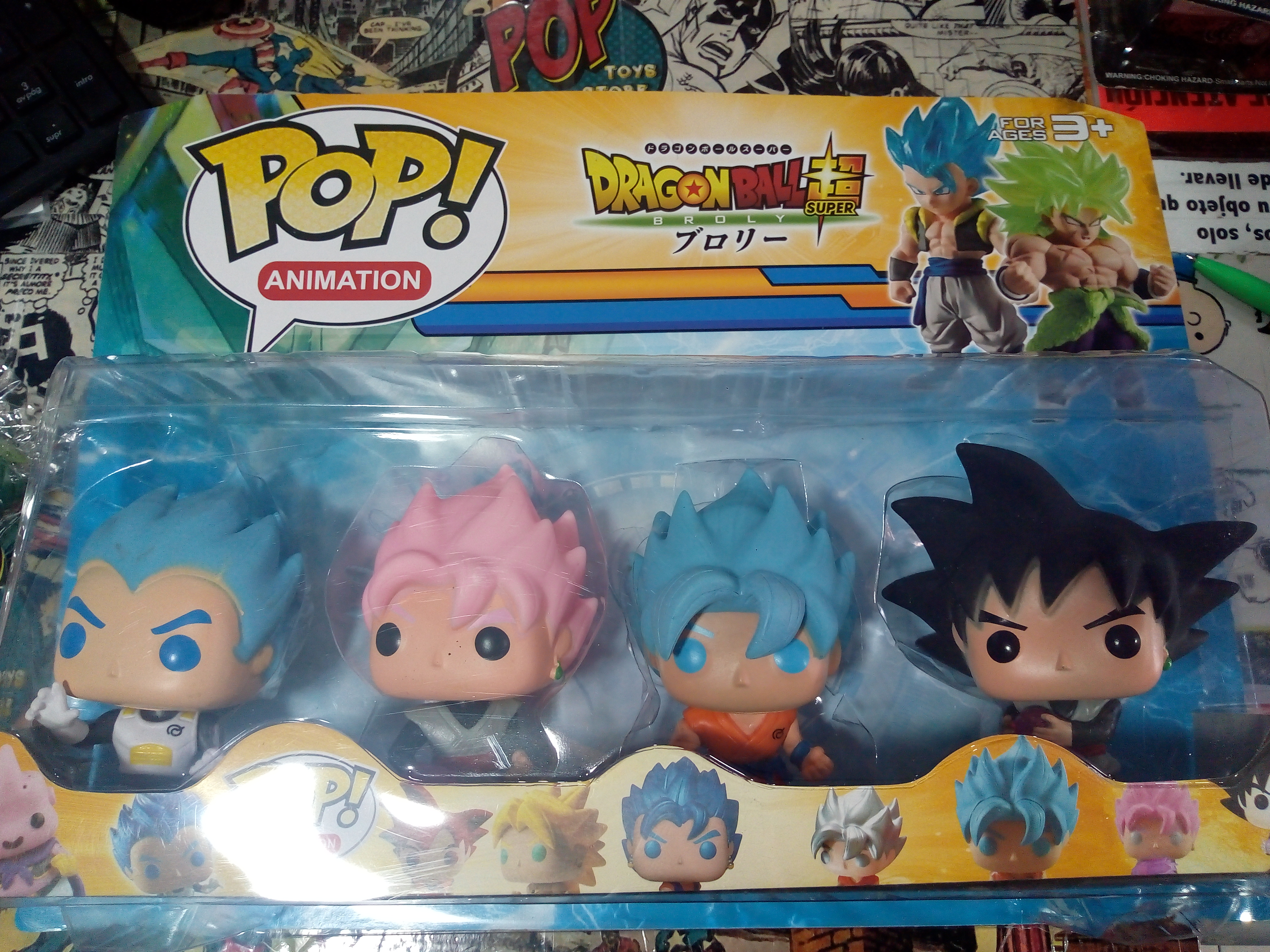 set tipo pop Dragonball