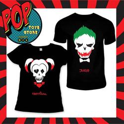 camisetas joker and Harley Quinn