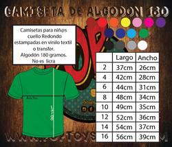 Tallaje Camiseta_algodon niño