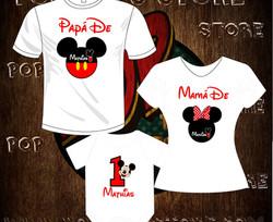 camisetas mickey familia