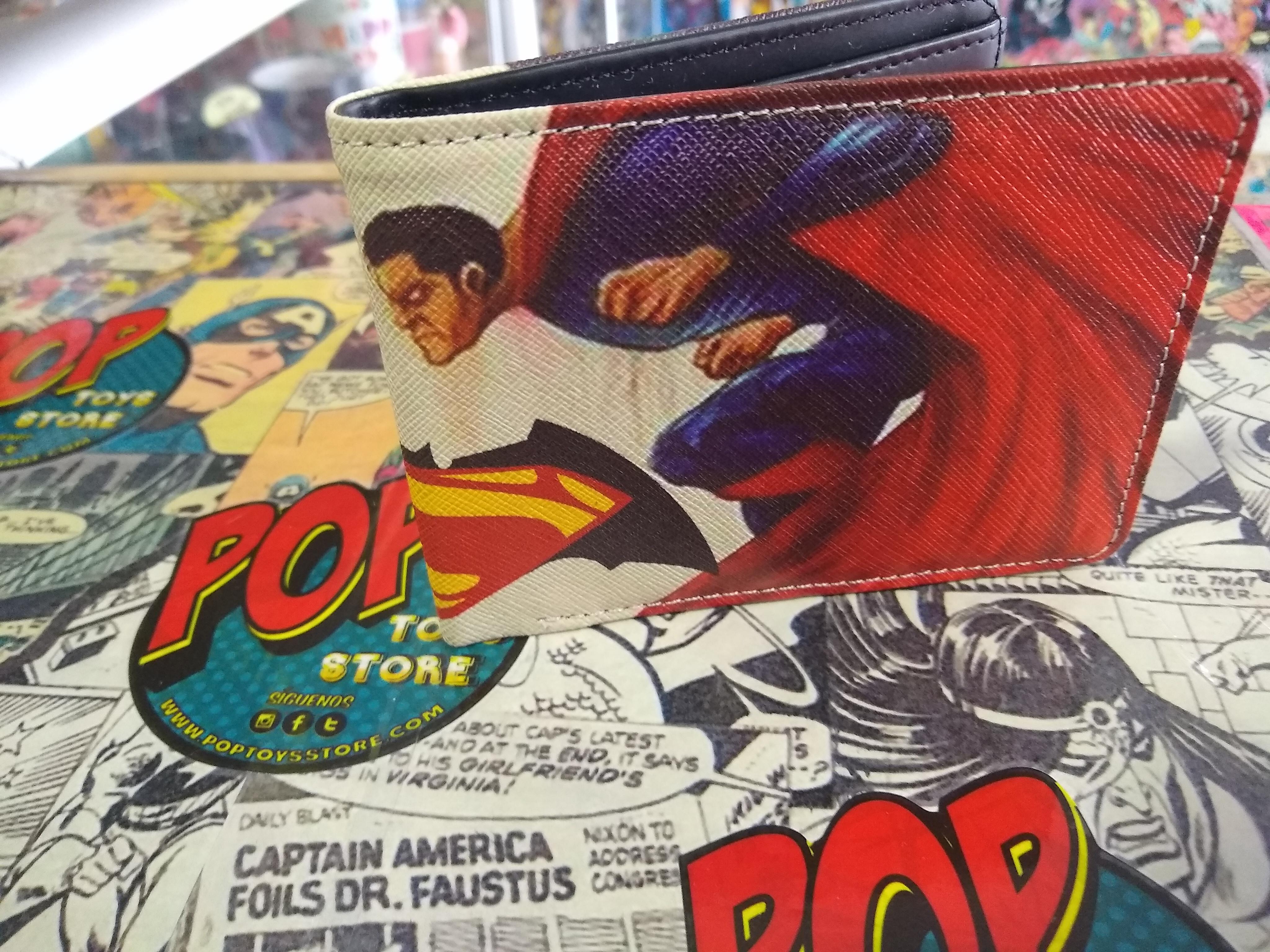 Billetera Batman superman comic 1