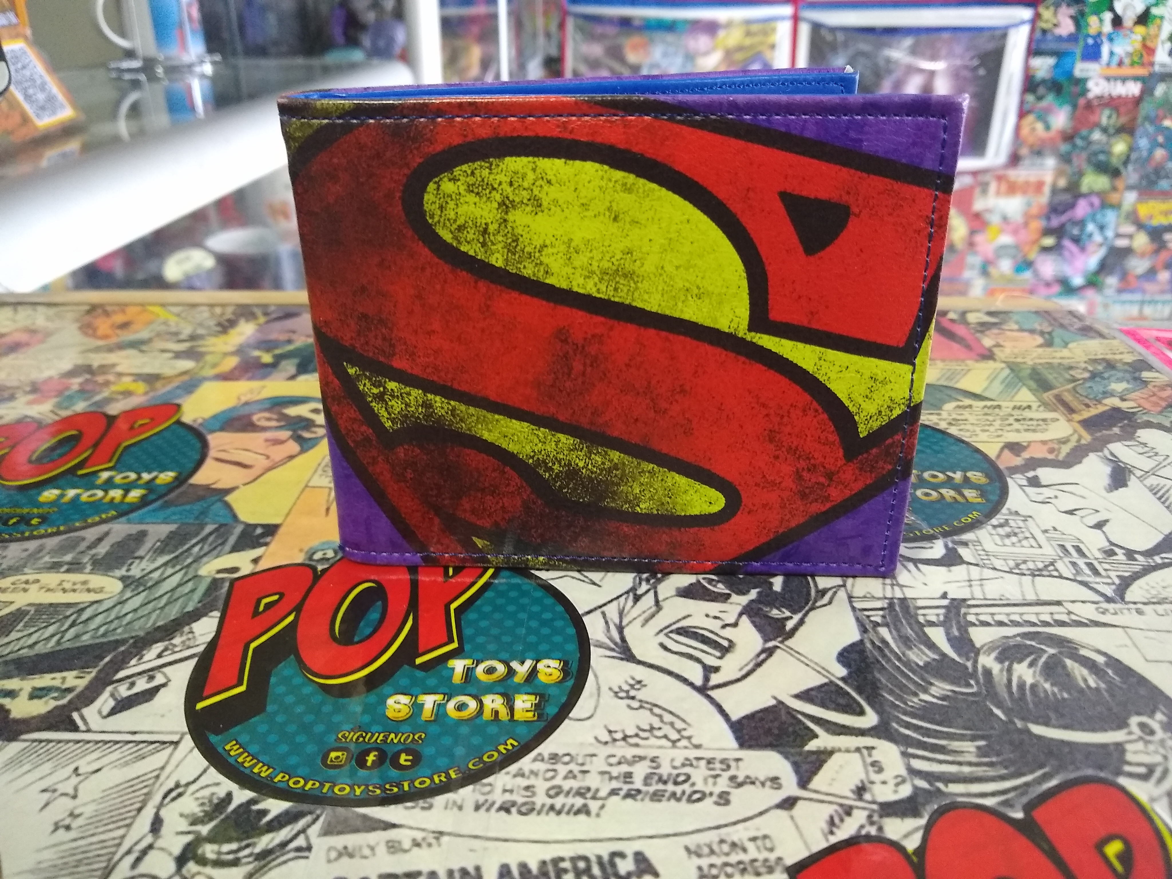 Billetera Superman logo 2