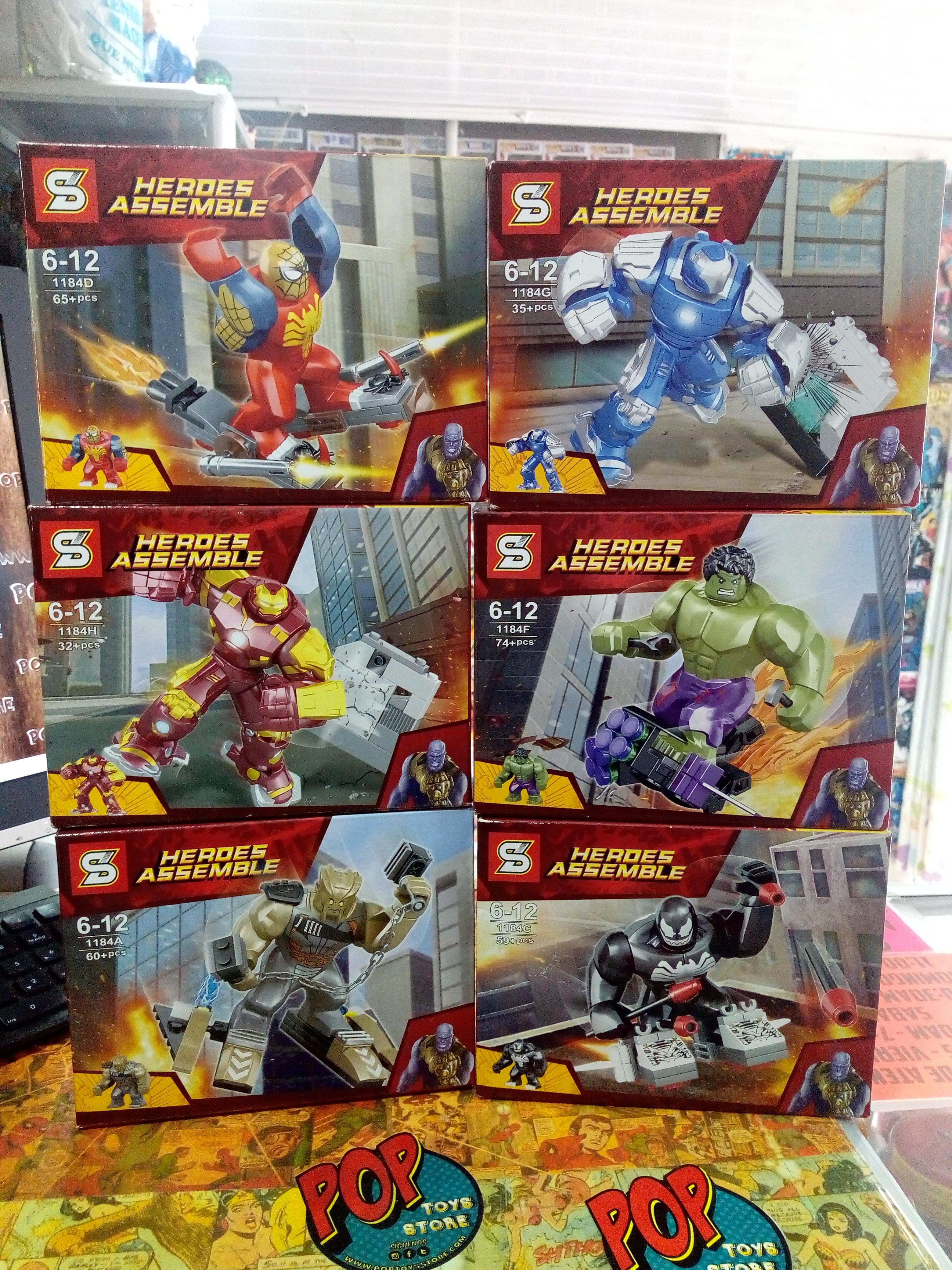 Figuras tipo lego Avengers 2