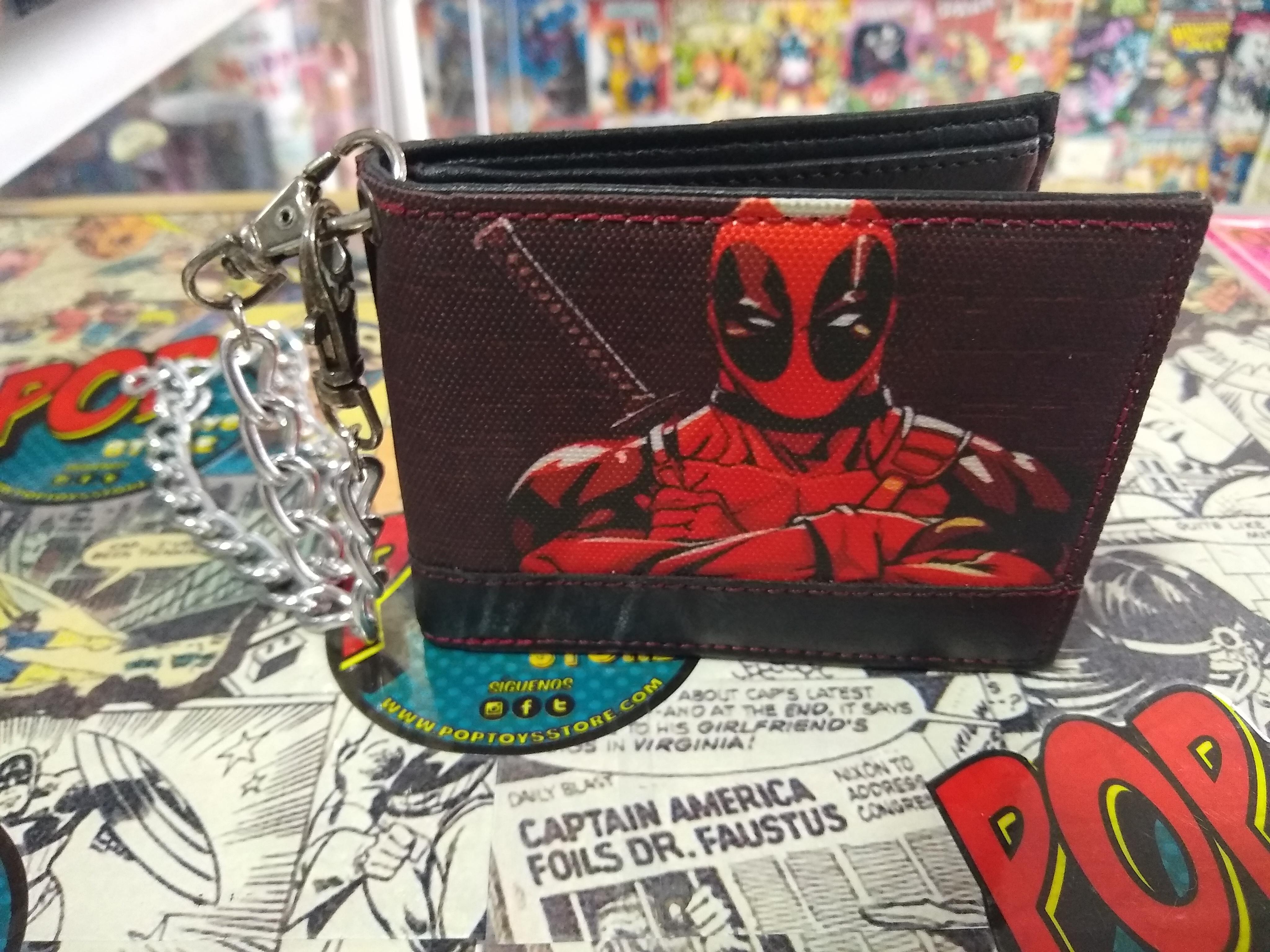 Billetera Deadpool cadena