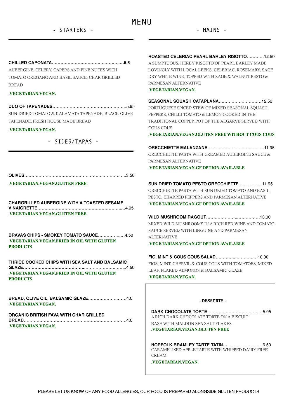 THE GATHERERS FOOD MENU JULY 2020 pdf-pa