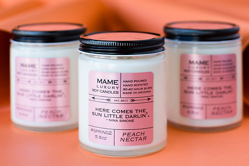 MAME Soy Candle - Peach Nectar