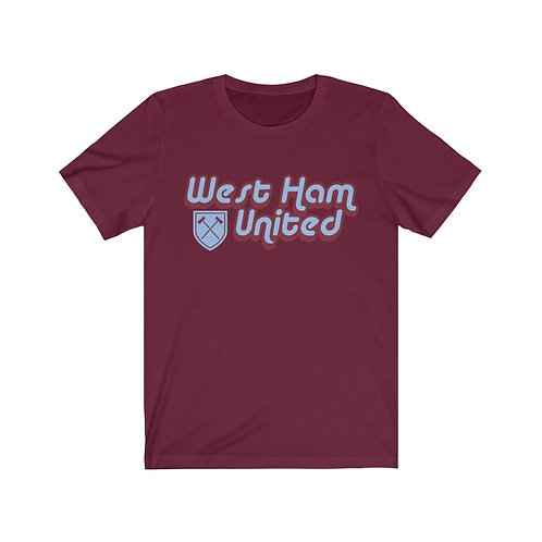 Retro 1960's West Ham Unisex Jersey Short Sleeve Tee