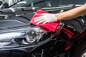Car detailing series : Worker cleaning b