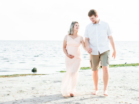 Beach Maternity Session | Bryce and Gabrielle