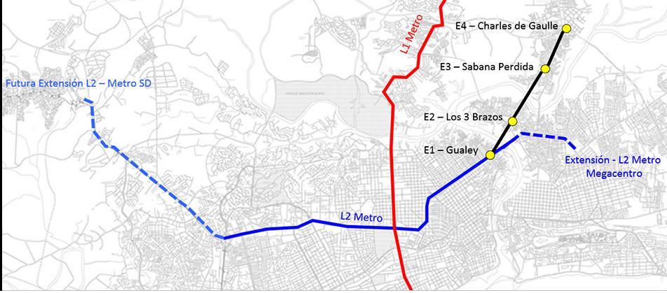 Líneas 1 y 2 del Metro de Santo Domingo