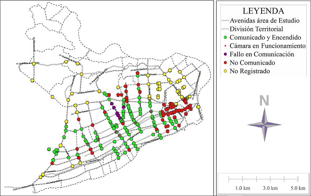 Intersecciones Semaforizadas y Condición de Cada una con el Centro de Control de Tránsito
