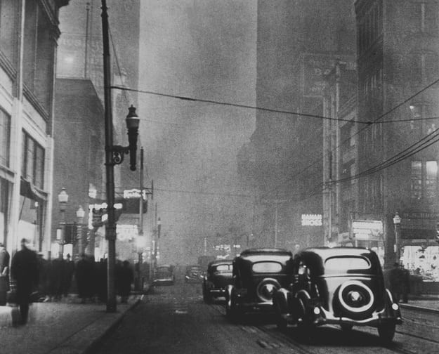 Foto tomada en plena mañana del siglo XIX en la ciudad de Pittsburgh