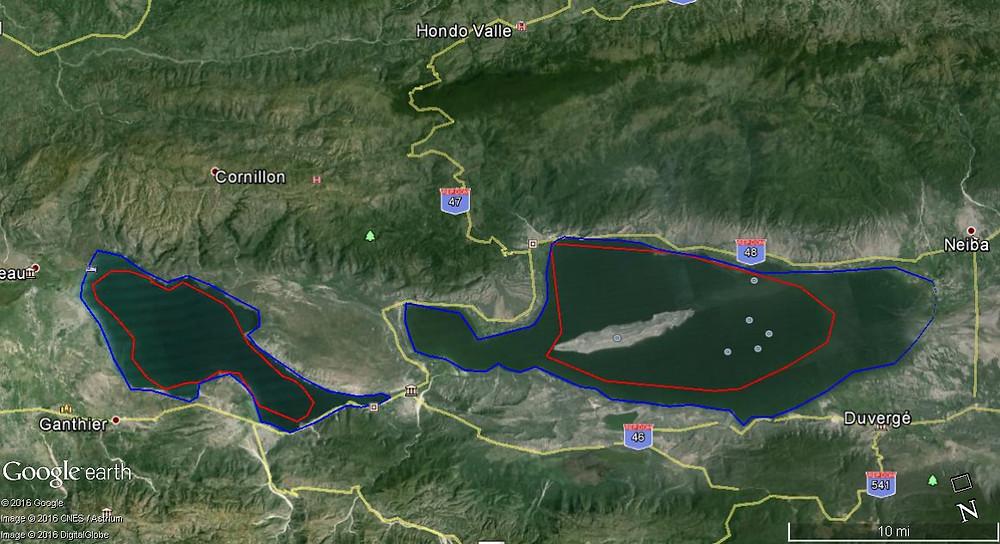Diferencia Lago Enriquillo 2010 - 2016