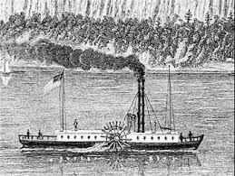 Bote a vapor de Robert Fulton Clermont